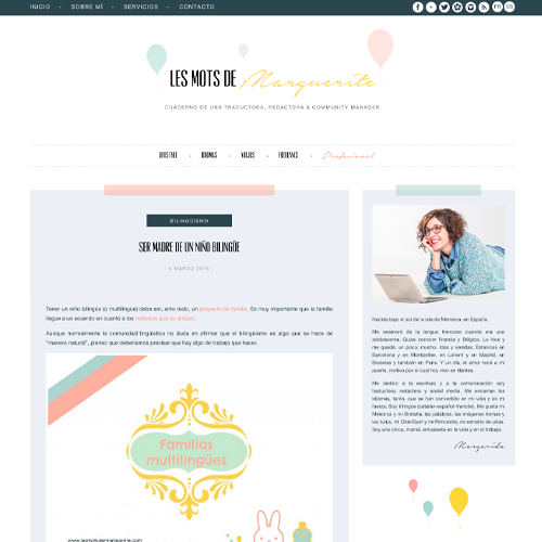 creation blog sur mesure pour une traductrice freelance