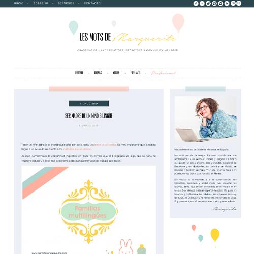 creation blog sur mesure pour une traductrice freelance