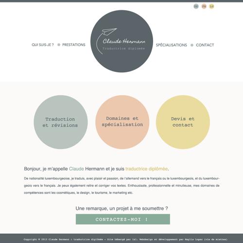 Création d'un site web original de traducteur