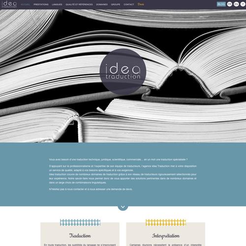 creation site vitrine pour une agence de traduction