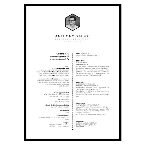 Design CV personalisé